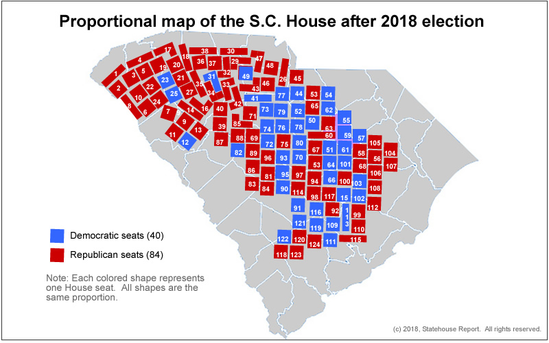 Statehouse Report – MAPS: A deeper look at power in the S.C. House